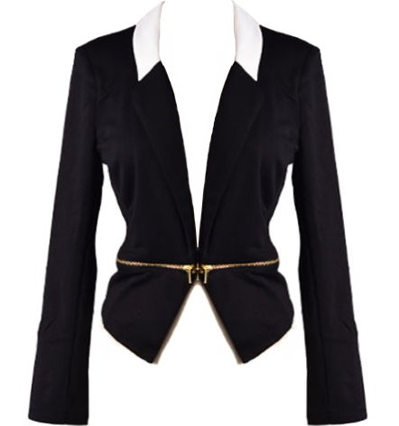 Bond Girl Blazer | White Cutout Juniors Jackets | RicketyRack.com