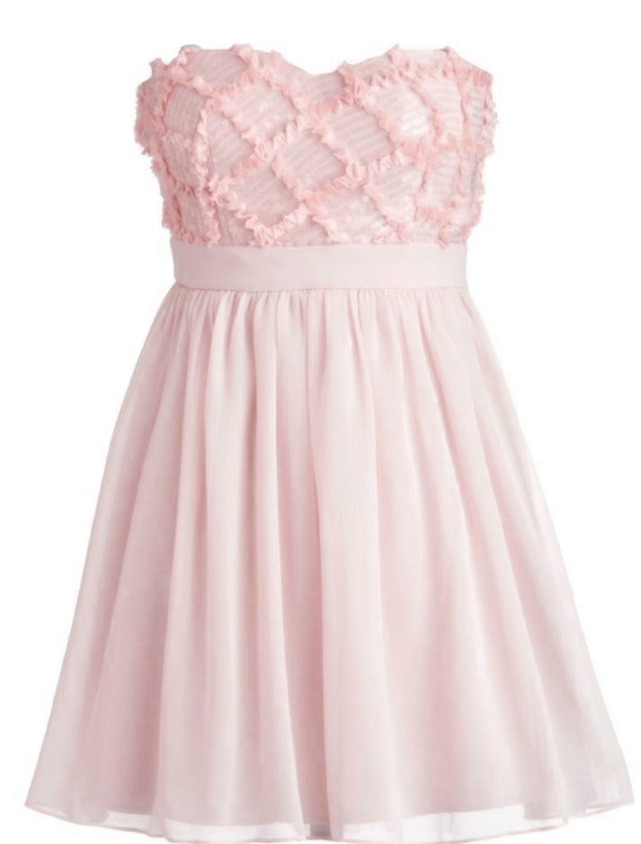 Light Pink Sweetheart Bodice Short Chiffon Homecoming Dress