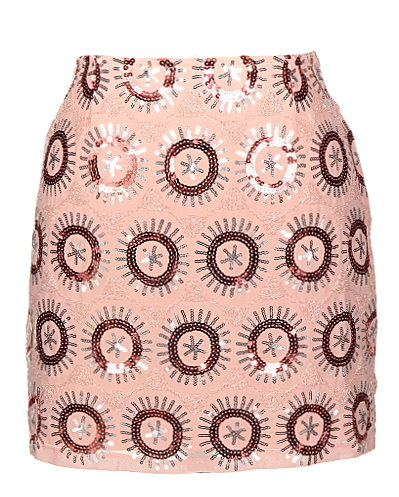 Pink Sequin Mini Party Skirt