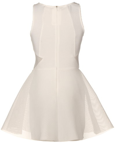 Sleeveless Ivory Ballerina Skater Dress