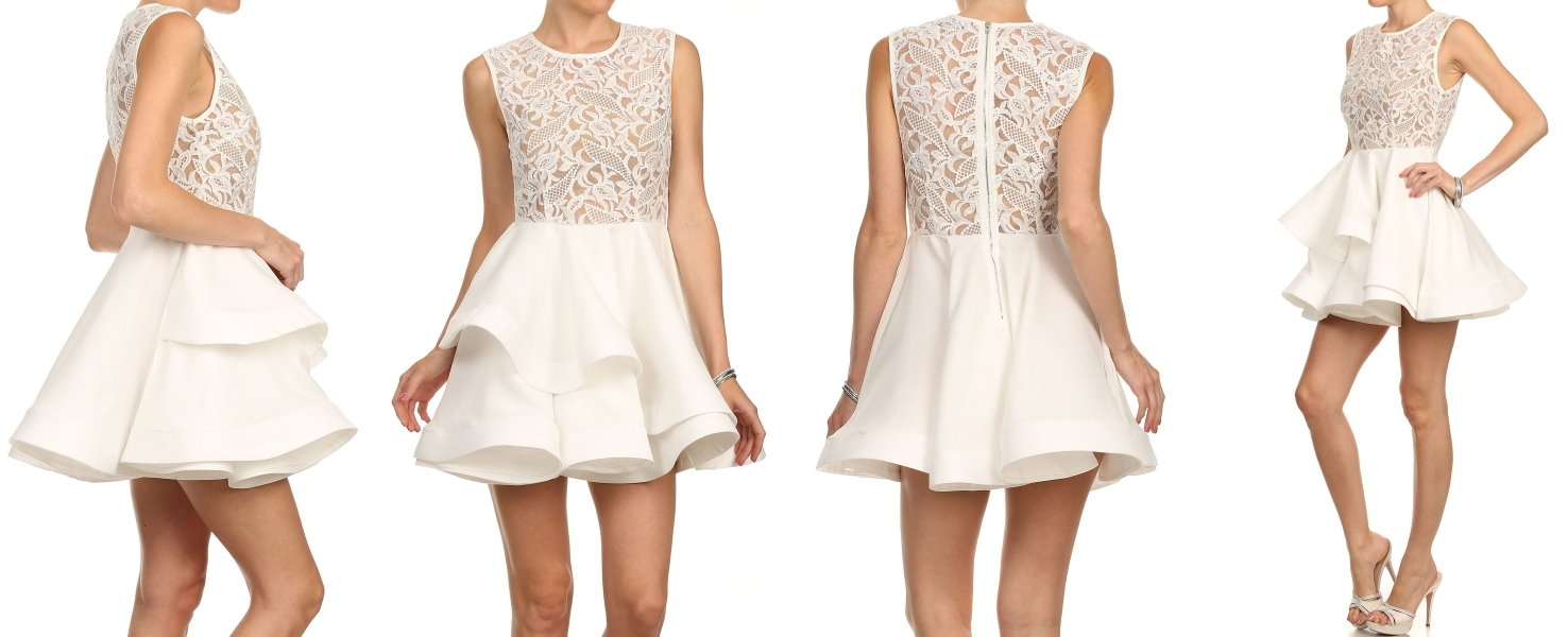Model View - Lace Meringue Dress by Rickety Rack