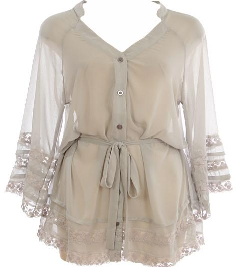 Lace Sleeved Blouse
