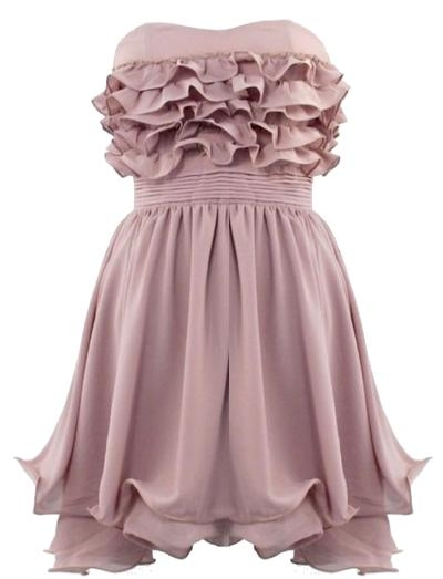 Ruffled Waterfall Dress