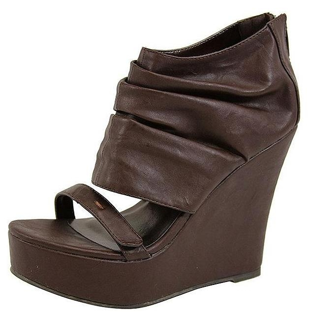 Chic Faux-Leather Wedge