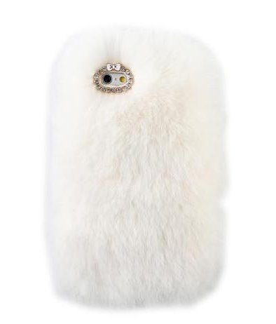 White Fur iPhone Cell Phone Case