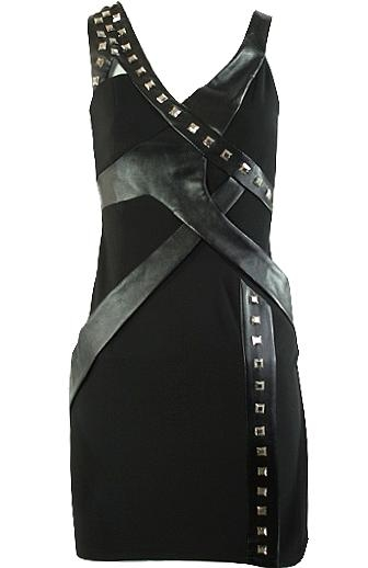 Studs and Leather Dress
