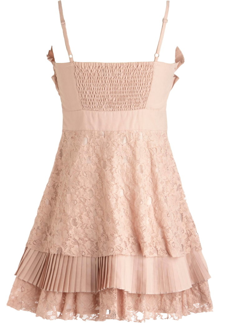 Pleated Seashell Dress Ryu Vintage Pink Bridesmaid