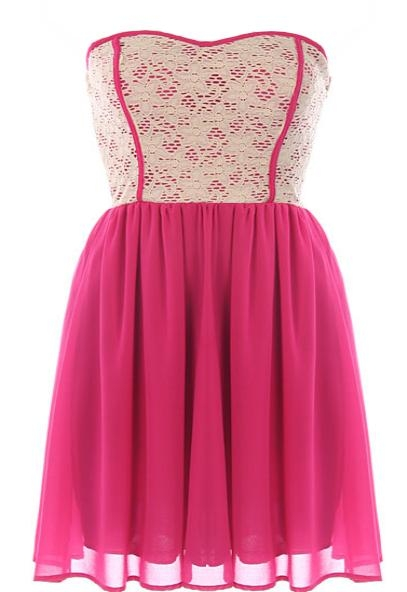 Raspberry Garnish Dress
