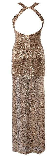 Long Gold Sequin Maxi Dress