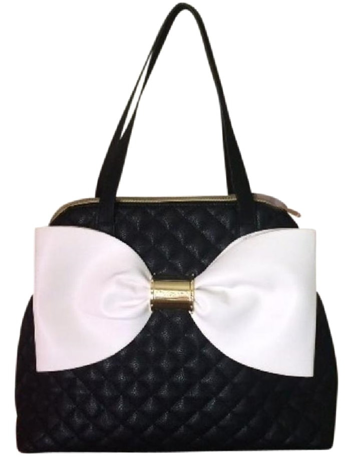 Betsey Johnson Bow Nanza Black Quilted Women's Handbag