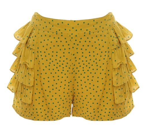 Frilled Kiwi Shorts