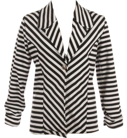 Bias Stripe Blazer