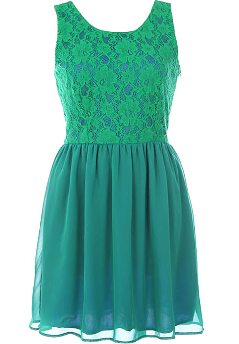 Emerald Flirtation Dress