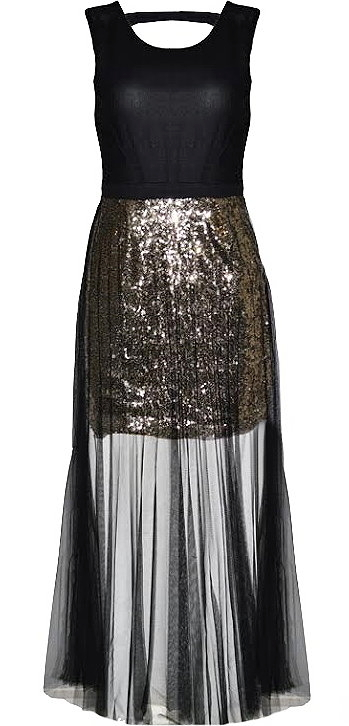 veiled galaxy dress black gold sequin maxi dresses
