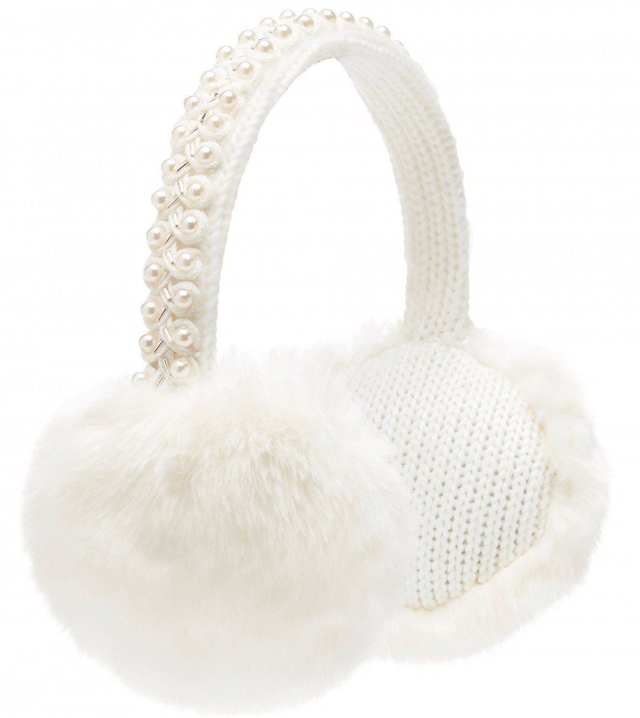 Faux Fur White Winter Earmuffs