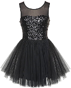 Gold Sequin Mesh Tulle Skirt Short Skater Homecoming Prom Dress