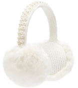 White Fur Earmuffs