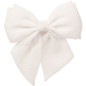 Snow Bow Scrunchie