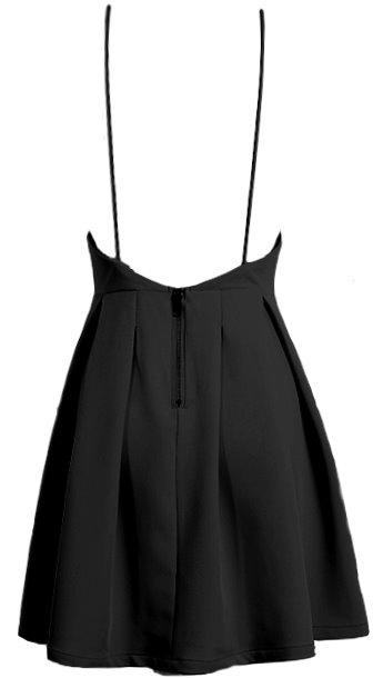 Fit-And-Flare LBD Short V-Neck Little Black Dress