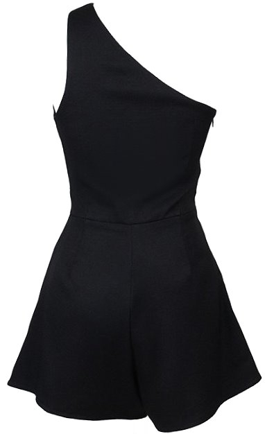 Single Shoulder Black Sweetheart Playsuit