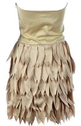 Champagne Colored Strapless Mini Party Dress
