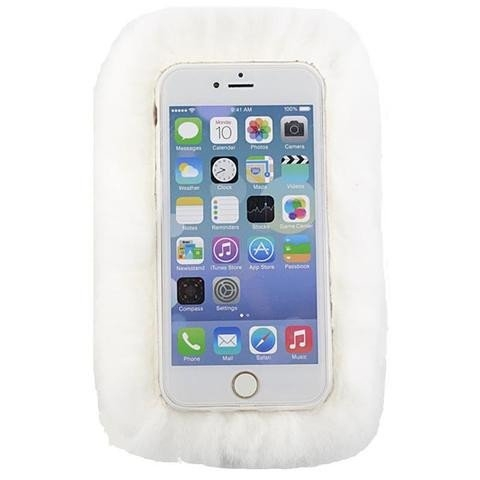 White Rabbit Fur iPhone 4 Case