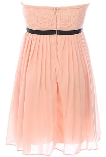 Pink Sweetheart Neck Short Lace Black Belt Homecoming Dress