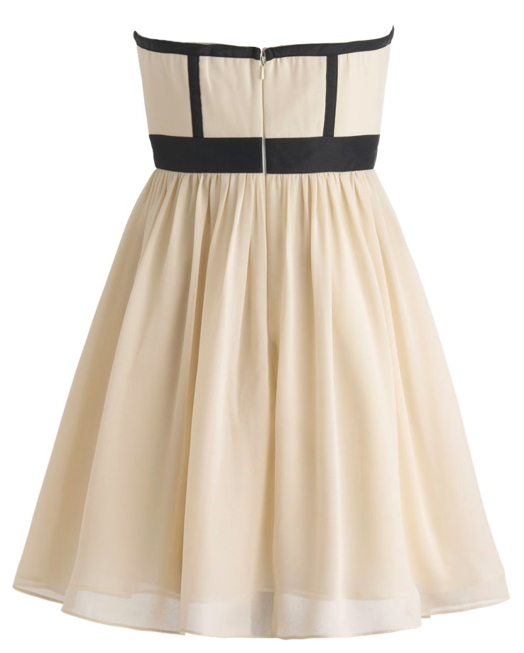 Sweetheart Neck Ivory Contrast Applique Homecoming Dress