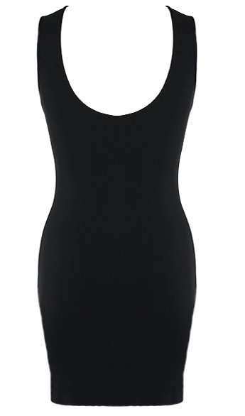 Cut Out Sequin Neck Fitted Little Black Dress