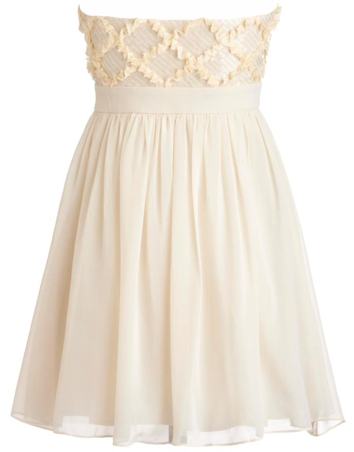 Ivory Strapless Sweetheart Neck Embellished Homecoming Dress