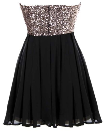 Sparkling Gold Black Short Sequin Bachelorette Party Dress