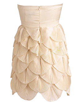 Ivory Sweetheart Neck Layered Pleated Short Homecoming Dress