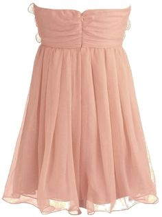 Strapless Peach Silk Chiffon Floral Applique Quincea?era Dress