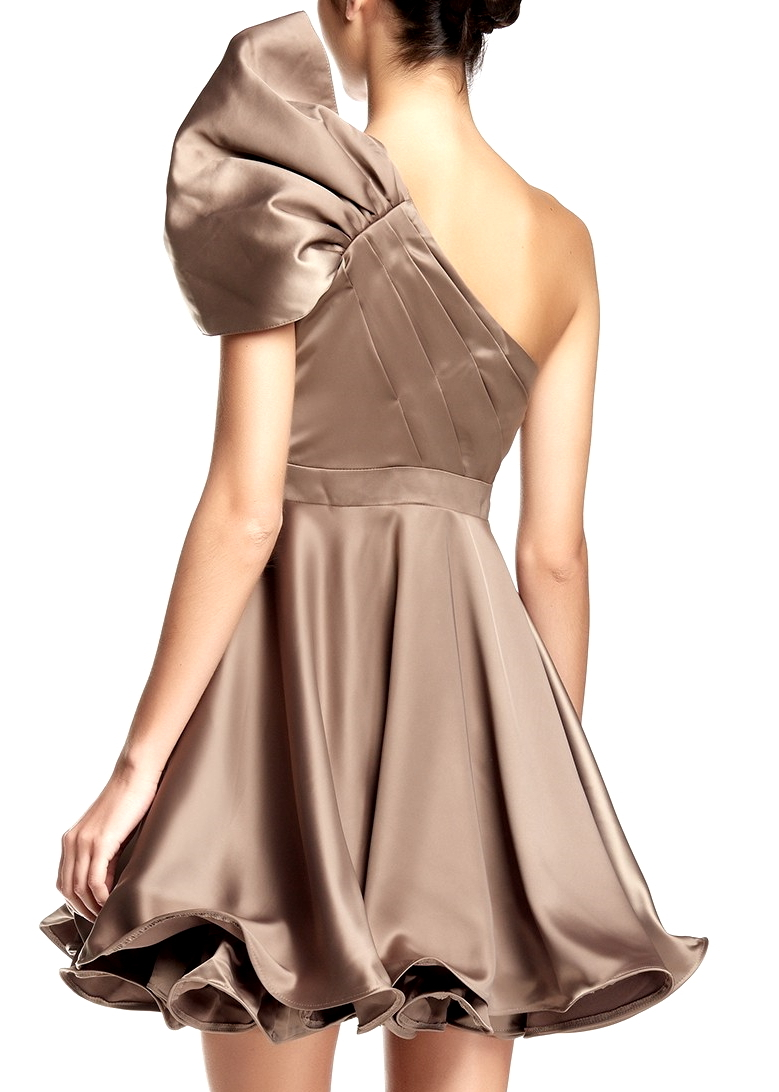 Fit-And-Flare One-Shoulder Special Occasion Dress